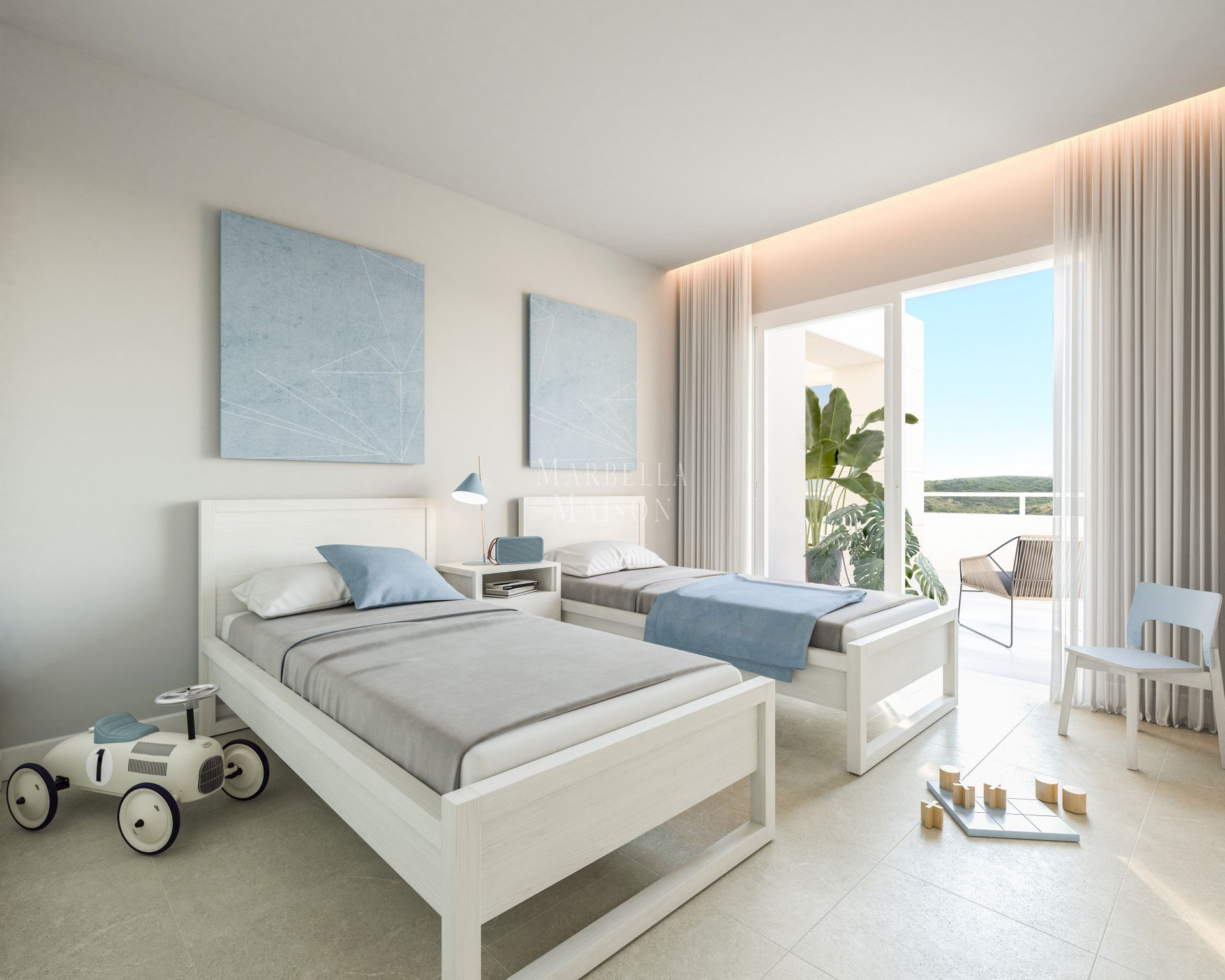 Brand new front line golf apartment in Casares